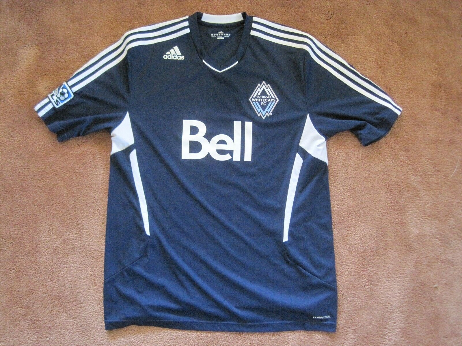 ADIDAS REPLICA ROAD VANCOUVER WHITECAPS SOCCER FOOTBALL ROAD REPLICA JERSEY SWEATER NICE!! 427ede