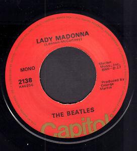 BEATLES-Lady-Madonna-1976-US-VINYL-SINGLE-7-034-REISSUE