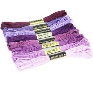 Multicolor-8Pc-Similar-DMC-Thread-Cross-Stitch-Embroidery-Thread-Sewing-Q6H-A5S2