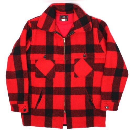 VTG Johnson Woolen Mills Mens Hunting Coat 40 Red