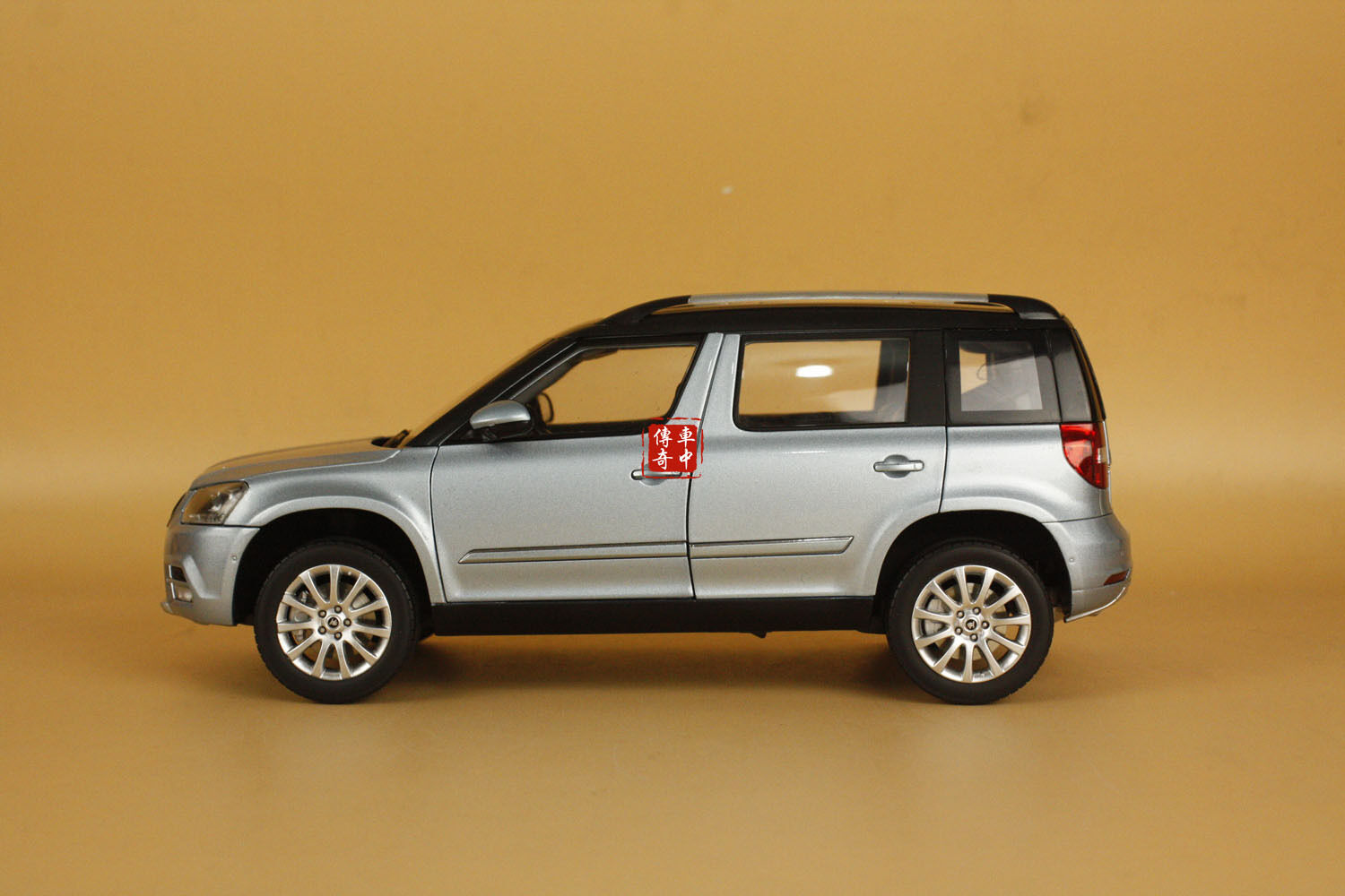 1 18 2015 new Skoda YETI DUHUI SUV model car bluee color