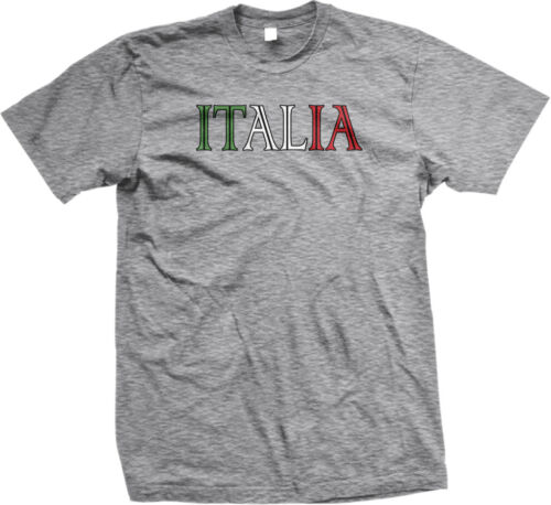 Italy European Country Italia Country Text Paisano Colored Mens T-shirt