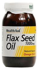HEALTH AID FLAX SEED OIL 1000MG - 60 CAPSULES