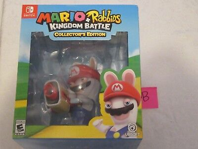Nintendo Switch Mario And Rabbids Kingdom Battle Gamestop Collector S Edition B Ebay