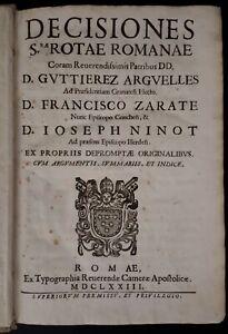 Guttierez-Arguelles-Decisiones-S-rae-Rotae-Romanae-Roma-1673