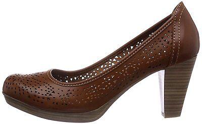 Marco Tozzi Mujer Reino Unido 4 a 8 Moscatel Marrón cortar 3 Mid Tacón nuevo Tribunal Zapatos