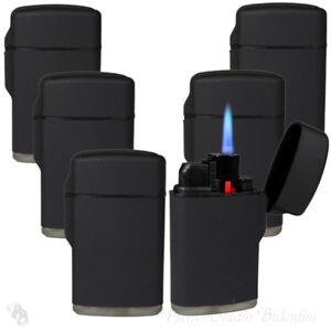 Sturmfeuerzeug-Turbo-Feuerzeug-Outdoor-BLACK-RUBBER-1-5-Stk-JET-FLAME-Torch