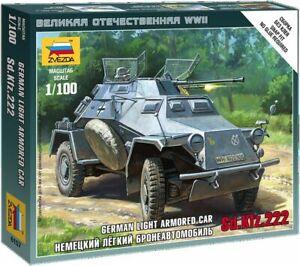 6157-Zvezda-model-kit-german-light-armored-car-Sd-Kfz-222-scale-1-100