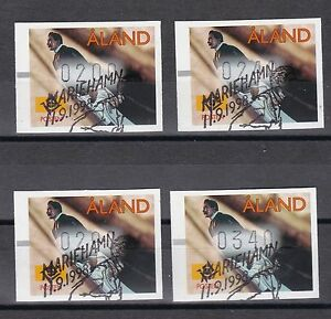 9 Taille Und Sehnen StäRken Automatenbriefmarken Aland Gestempelt 1998 Automatenmarken Minr