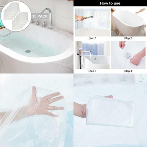 Ultra Large Bathtub Liner Plastic 10 Pack Disposable Bathtub Cover Liner