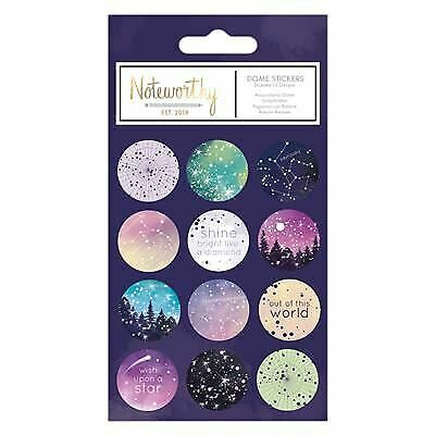 Constellations Star Gazer Desk Stationery Range Noteworthy Dome Stickers