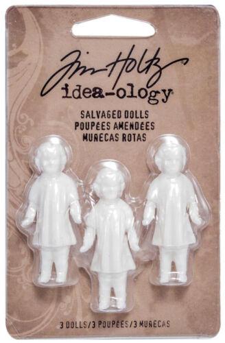 Tim Holtz idea-ology recuperado Muñecas En Miniatura De Cristal Con Adornos