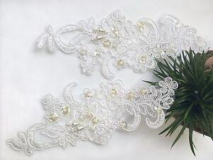White beaded applique baby headband u sweet ella s boutique