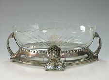 WMF GEISLINGEN gr. Jugendstil Jardiniere mit Original Glaseinsatz Mod.154 -1900