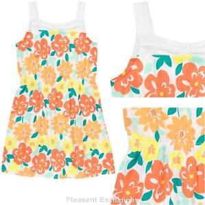 NWT Gymboree 7 or 8 SUNNY CITRUS Kid Girls Spring Orange Sherbet Floral Dress