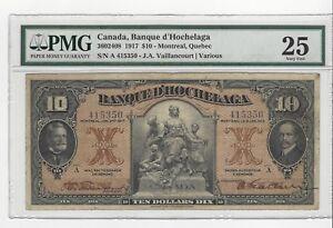 1917-Banque-d-039-Hochelaga-10-Note-PMG-VF-25-SN-A-415350-CH-505-64-02