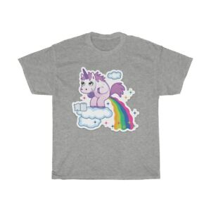 Unicorn Poop Farting a Rainbow Funny Vintage 80's Style ...