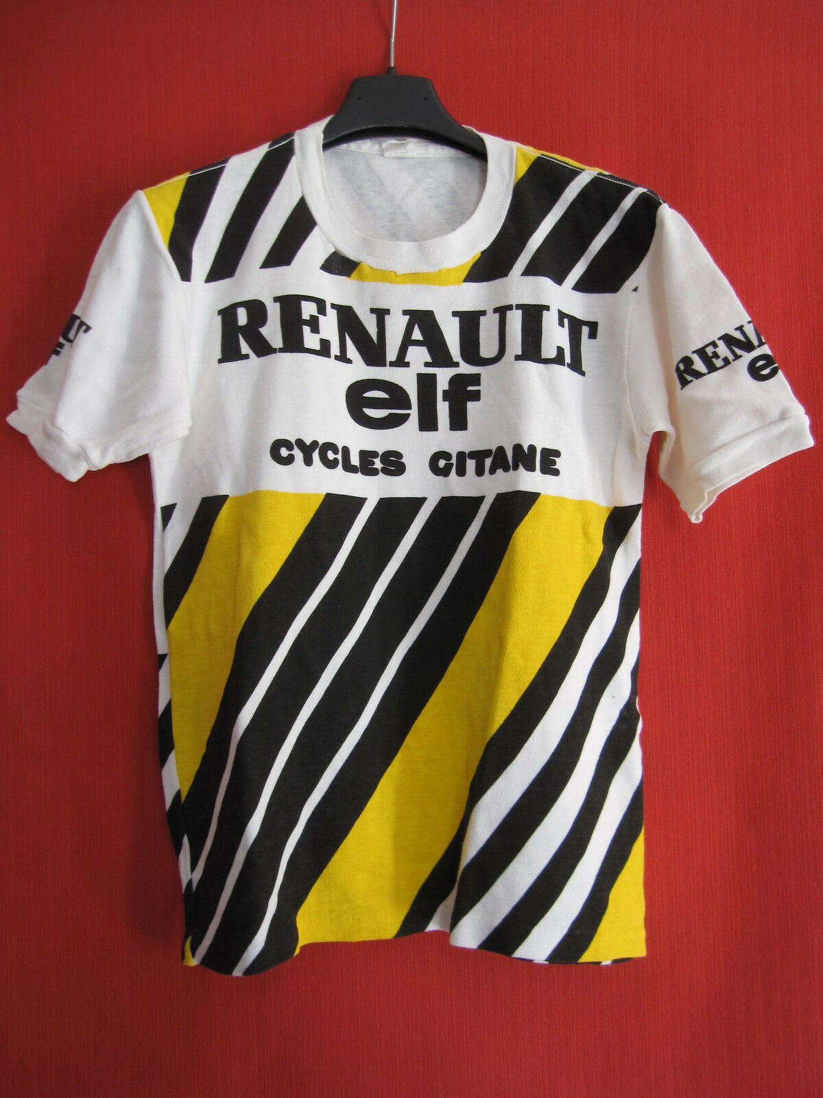 Tee Shirt de maillot cycliste RENAULT ELF cycles cycles cycles Gitanes Vintage 80'S Vélo TBE f6a77f