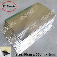 12 Sheets 5mm Glass Fibre Soundproofing & Heat Insulation Sheet Closed Cell Foam