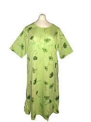 Damen Nachthemd  Kuzarm mit 3 Knöpfen  Baumwolle