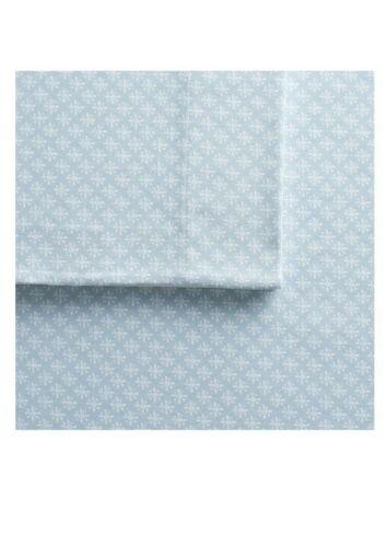 Cuddl Duds Heavyweight Flannel 4 Pc Sheet Set KING Blue Ditsy Diamond $119 NEW