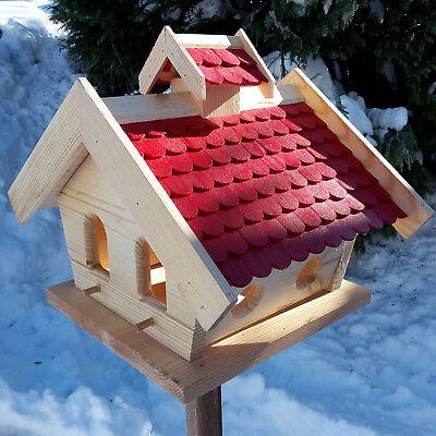 VOGELHAUS aus HOLZ Vogelhäuschen Vogelhäuser Vogelfutterhaus XXXL NEUES MODELL