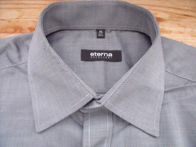 Ta3051 Eterna Classic Fit Fit Classic Excellent businesshemd manches longues 40 noir gris argenté bdee7e