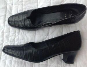 Splendida V Croc Dimensione Shoes tagliato Clarks Court Matte Print Black Condizione 5 5 xFqPnA