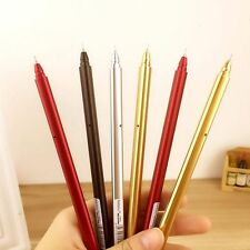 Creative Colored Metal Gel Pen Material Escolar School Supplies Writing Pens