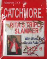 Perch Rig, Size 6, Rita's Triple Slammer, Six Rigs, Tangle Free, Usa Prrts-6br