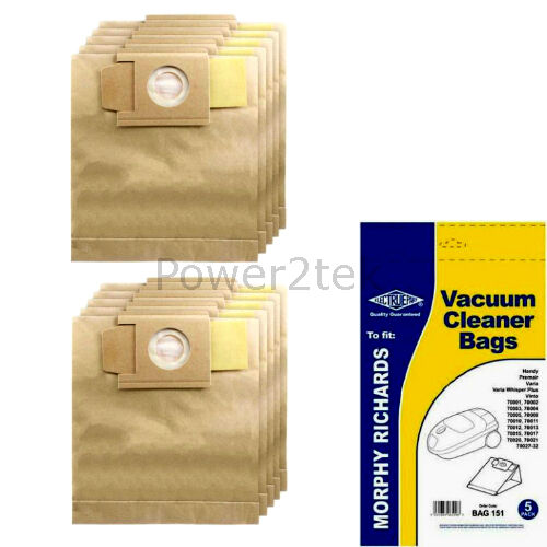 10 x 01 87 Dust Bags for Morphy Richards 1600 1700 2000 Vacuum Cleaner