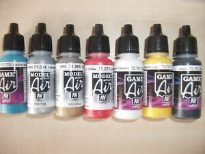 Image Is Loading Nail Art Airbrush Paint Set Main Primary Colours