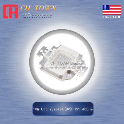 1Pcs 10W High Power Ultra violet UV 395-400nm SMD LED Chip COB Lamp Lights Board