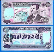 Iraq P 85 250 Dinars 1995 Saddam Hussein Uncirculated Banknote Asia