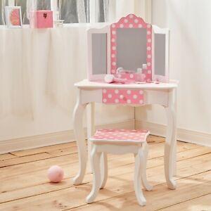 Teamson Kids Childrens Wooden Vanity Unit Set Inc Table