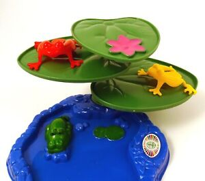 3D-Jumping-Frogs-like-Tiddly-Winks-with-Frogs-and-Lily-Pads-Age-3-Flip-the-Frog