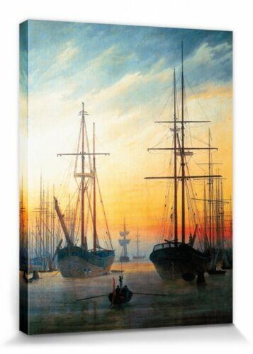 Caspar David Friedrich 40x30cm #111264 Ansicht Eines Hafens Leinwandbild