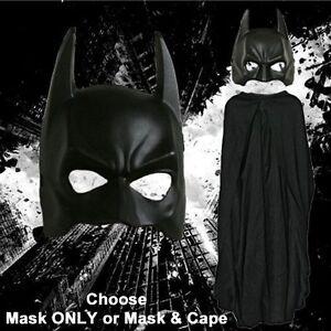 Adult-DC-Movie-The-Dark-Knight-Rises-Batman-Mask-amp-Cape-Set-Costume-Accessories