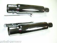 "Auspuff-Set Endtöpfe Universal 12"" Krümmer 45 / 38 mm Shorty silencer Harley"