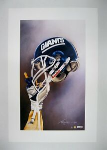"""New York Giants NFL Football 20"""" x 30"""" Team Lithograph Print by Kelly Russell"""