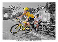 MARK CAVENDISH BRADLEY WIGGINS SIGNED PRINT POSTER PHOTO 2012 TOUR DE FRANCE