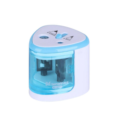 Electric Automatic Pen Pencil Sharpener Dual Hole Stationery Battery Operated RS
