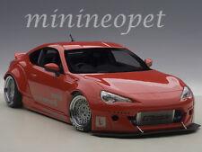 AUTOart 78757 ROCKET BUNNY TOYOTA 86 1/18 MODEL CAR RED with SILVER WHEELS