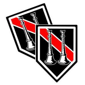 Thin Red Line Two Straight Horns Decals Pack Of Two