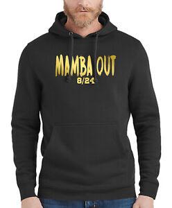 New Men/'s Mamba Mentality White Raglan Hoodie Kobe 8 24 Mamba Out