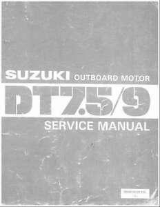 suzuki dt7 5 dt9 2 stroke outboard motor service repair manual cd rh ebay ie Suzuki 2-Cycle Outboards 9 HP Outboard Suzuki