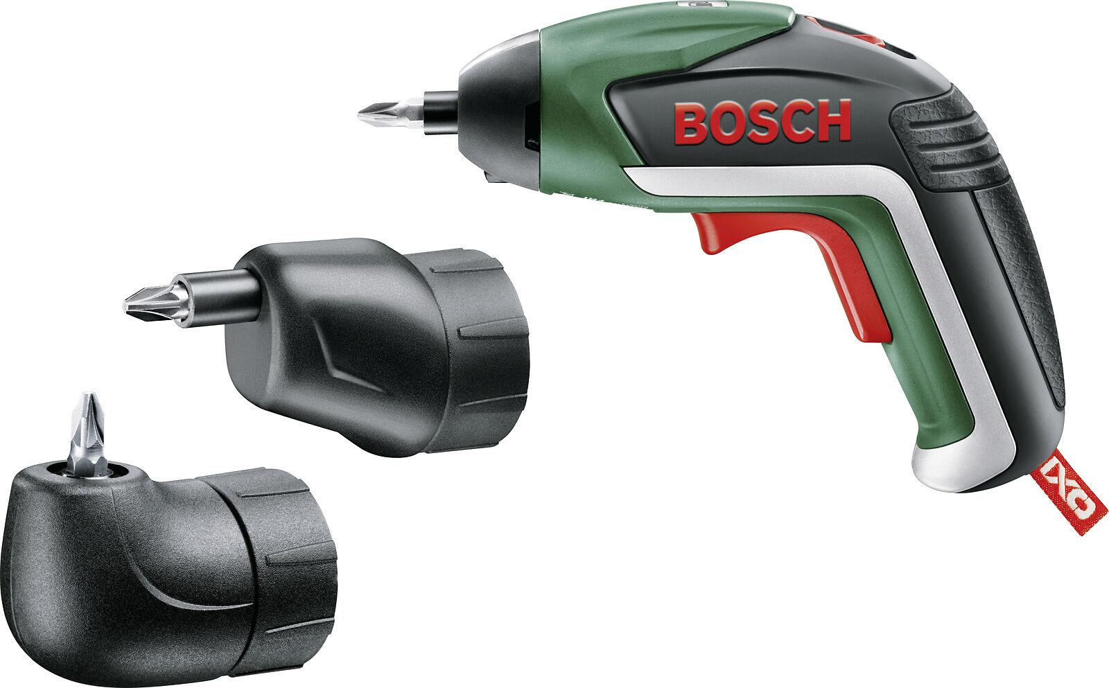 Bosch Akkuschrauber IXO V Set mit Winkel- und Exzenter-Aufsatz, 10 Bits