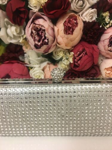 Schiffer Clutch Rectangle Bag Sequin Claudia Monsoon Silver Oscar Accessorize 5xBqAaPwB