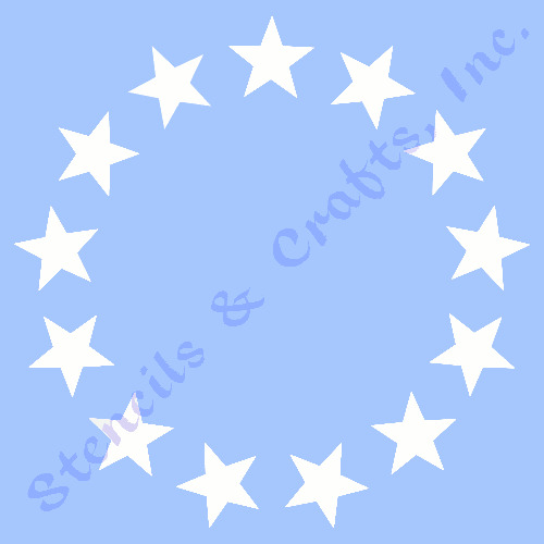 Star Stencil Stars Circle Stencils Template Templates - Ebay background templates