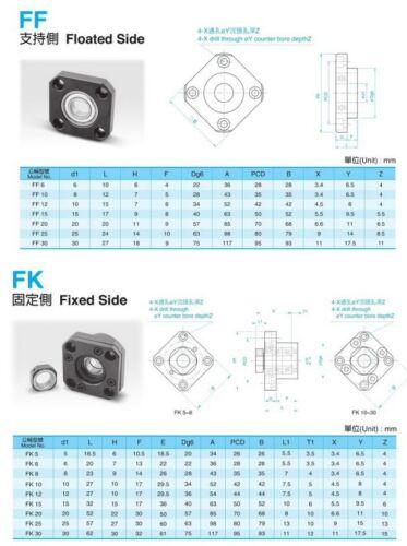 1pcs FK12 Kugel End unterstützt Kugel End Support CNC-Teile